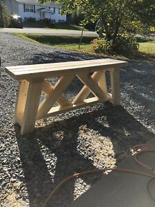 Rustic handmade benches. Home,patio,garden etc