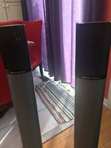 4 harman kardon speaker with stands for sale