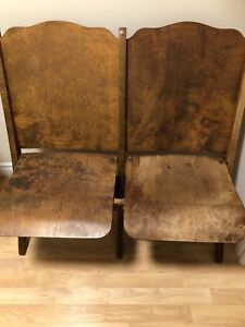 Vintage theatre style chairs