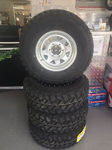 15x7 Galvanised Wheel and Tyre Package 31x10.5R15 MT Mud Terrian Hemmant Brisbane South East Preview