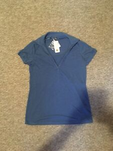 BNWT Maternity Nursing Top Blue Medium