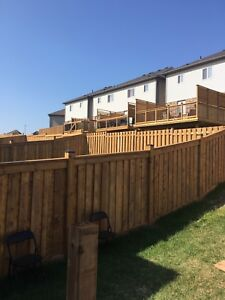 FENCES AND DECKS. Booking up end of season