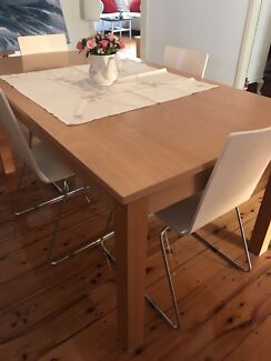 White dining tableDining TablesGumtree Australia Brisbane