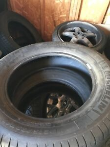 4- Michelin 215-65-17   10-32nd almost new