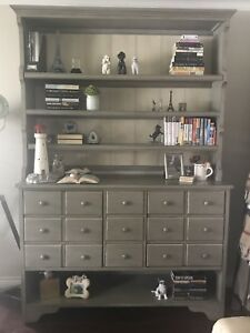 Hooker Bookcase/Sideboard with Hutch