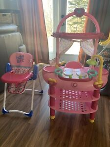 Baby alive kitchen and high chair