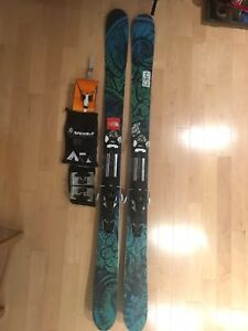 Ski Nordica Patron 115cm with touring bindings+skins+crampons!