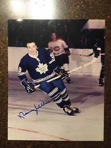 Autographed 8x10 Norm Ullman, Toronto Maple Leafs