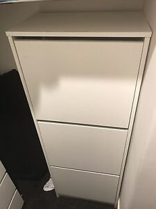 Shoe cabinet IKEA bissa South Yarra Stonnington Area Preview
