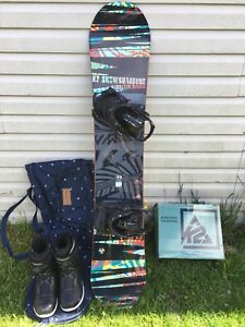 K2 snowboard and accessories