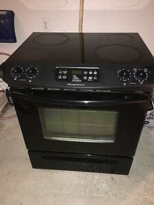 Frigidaire glass top induction stove for sale.