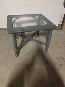 Lovely Square Table with glass top.