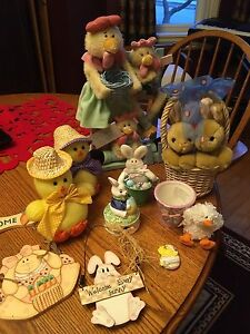 Assorted Easter decorations