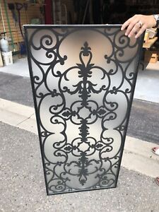 Decorative Front door wrought Iron and glass insert