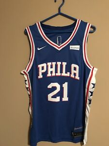 Sixers Embiid NBA Large Nike Jersey