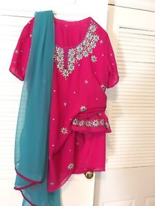 Shalwars and Lengha's for sale (size XL)