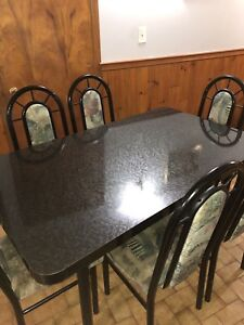Dining table set for 6 - $100