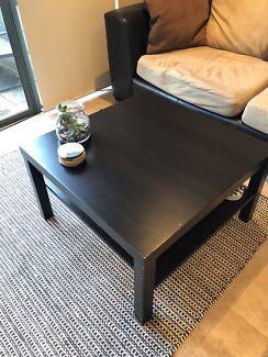 blackbrown coffee table ikea lack