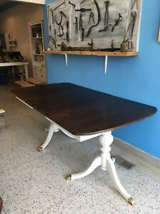 Refinished Antique Table with hidden leaf