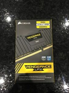 SEALED BNIB Corsair Vengeance LPX DDR4  (2x16gb)32gb 2400MHz RAM