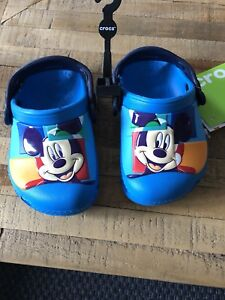 Mickey Mouse crocs size 4-5 brand new with tags