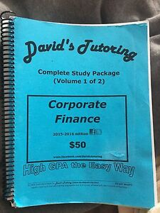 Davids Tutoring - Corporate Finance Books