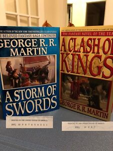 Game of Thrones book two and three first editions