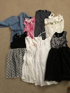 Girls size 12/14 lot of pretty dresses.