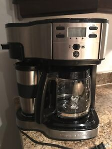 Hamilton Beach Single Serve Coffee Brewer and Full Pot Coffee