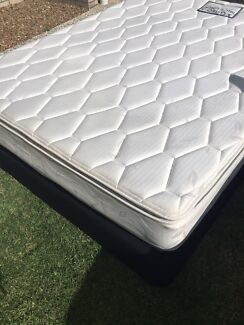 Queen Pillowtop + Bed Base, Osteo Back Care Brand Gone By Sun
