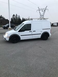 2012 ford transit connect with ladder rack and shelves