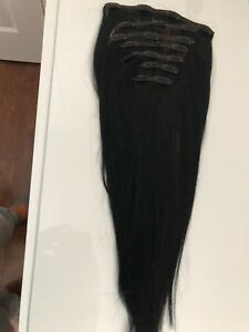 18' 100% human hair clip in extensions