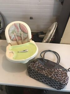 Baby chair and bag