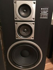 Speakers Sanyo 3 way system
