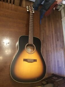 Simon and Patrick Songsmith Acoustic Guitar with Hard Case