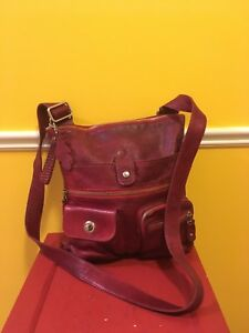 EUC Roots Tribe Cranberry Bag/Purse Crossbody