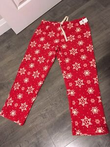 Fleece snowflake pj pants