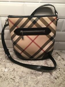 Burberry Nova Check Cross Body Bag Purse