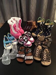 Kids size 6 shoes.   17 pairs!!!!