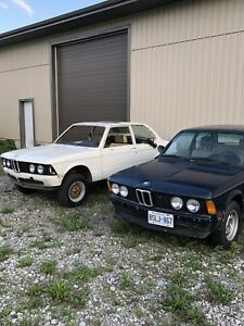 Pair of BMW E21 320i project cars 1977 1982