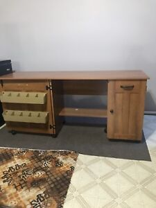 Desk or sewing table.