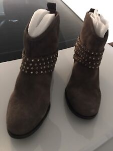 Brown Ankle Suede Boots