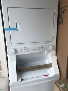 Brand new fridgedaire laundry Center washer and dryer