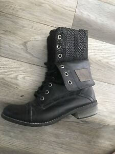 Woman's combat boots