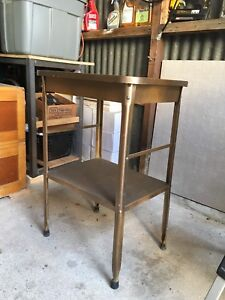 Vintage metal table/ kitchen stand