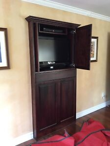 Wall unit, solid wood doors (built in or stand alone)