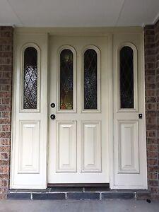 Leadlight Front Door & Sidelights Set Pitt Town Hawkesbury Area Preview