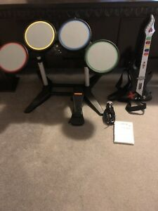 PS3 Rock Band set up