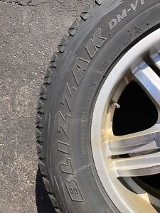 Four Bridgestone Blizzak Winter Tires & Alloy Rims