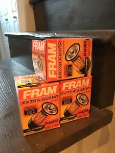 Three new fram oil filters to fit 2007-2012 Toyota Camry